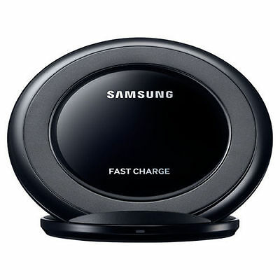 Black Qi OEM Samsung Fast Wireless Charger Stand Pad Galaxy S7 S6 Edge NOTE 5