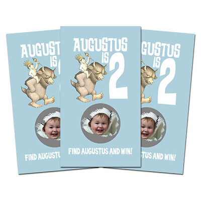 10 Where the Wild Things Are Personalized Party Favor Birthday Scratch Off - Birthday Things