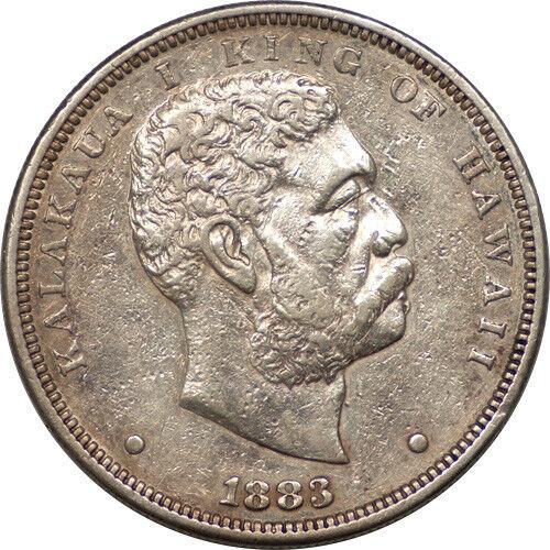 Hawaii 1883 Kalakaua I Silver Dollar