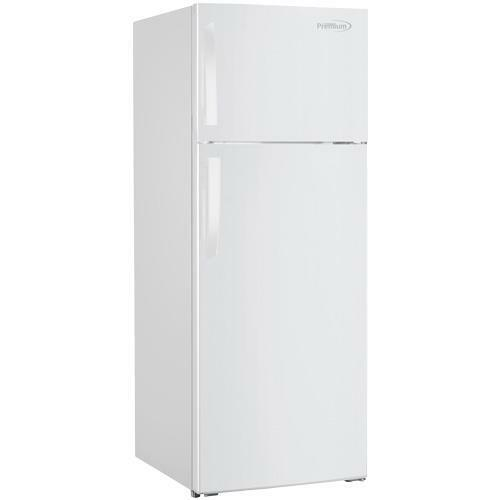 Premium 10.1 Cu Ft Frost Free Top Freezer Refrigerator in White Adjustable Door