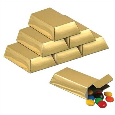 Foil Gold Bar Favor Boxes Gold Anniversary Wedding Party Supplies Decoration - Anniversary Supplies