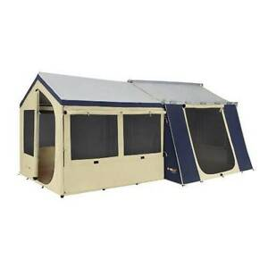OztrailCabin Tent Sunroom + 12x9 Canvas Cabin Tent Yagoona Bankstown Area Preview