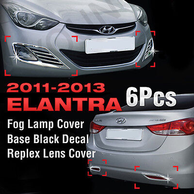 Chrome Fog Light Lamp & Reflex Lens Molding Trim For HYUNDAI 2011-2013 ELANTRA