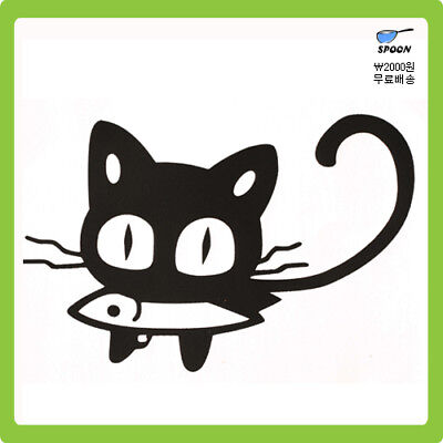 Animal Designed Home Deco Sticker / Cat, Panda, Hippo