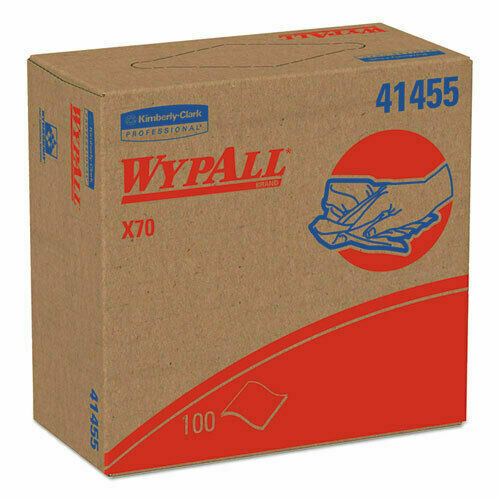 Case of WypAll X70 Wipers POP-UP Boxes 100 wipes/Box 10 Boxes/Case = 1,000 Wipes