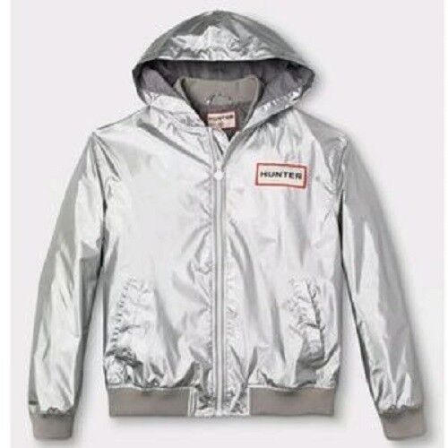 Hunter for Target New Men's Hooded Windbreaker Jacket Silver NWT Clothing, Shoes & Accessories