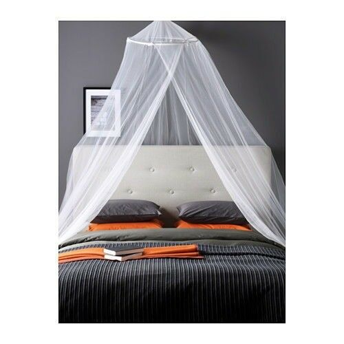 Ikea Bryne Bed Canopy White Net