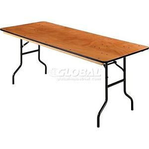 plywood folding table 72 l x 30 w. Black Bedroom Furniture Sets. Home Design Ideas