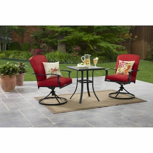 Patio Furniture 3 Pc Set Table Chairs