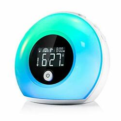 CrazyFire Wake Up Light Alarm Clock for Bedrooms,Kids Alarm Clock with Wireless