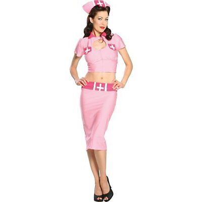 Sexy Pink Nurse Halloween Adult Costume Size Medium Fancy Dress  Medical New (Halloween Costumes Pink)