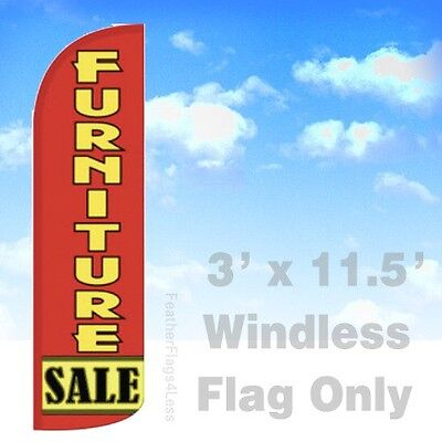 Furniture Sale Windless Swooper Flag 3x11.5 Feather Banner Sign - Rq