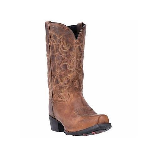 """Laredo, 68442, Bryce, 12"""", Snip, Toe, Rubber, Sole, Distressed, Leather, Cowboy, Boots"""