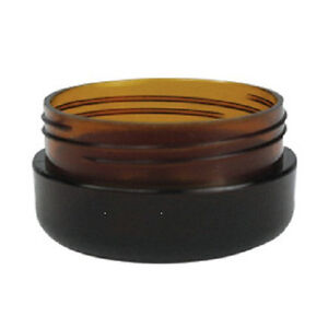 20-x-10g-Amber-Plastic-Lip-Balm-Small-Sample-Cosmetic-Jars-Container-Black-Cap