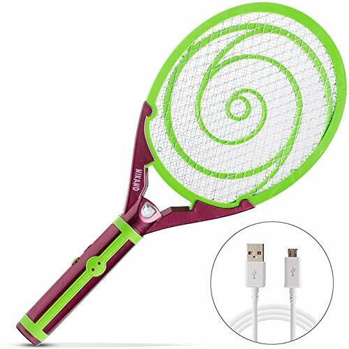 Nikаnd Electric Gnat Fly Insect Killer Swatter Bug Zapper Racket USB - Light
