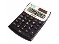 NEW - 14 x Aurora EcoCalc Semi-Desktop Calculators - 12-digit Black EC404