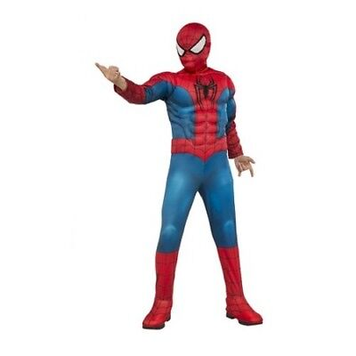 Kid Halloween Movies (NEW Spiderman Deluxe Halloween Boys Costume Dress Up Childs Marvel muscles)