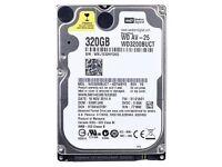 BRAND NEW WESTERN DIGITAL 320 GB 2.5 Laptop Hard Drive SATA II 5400RPM