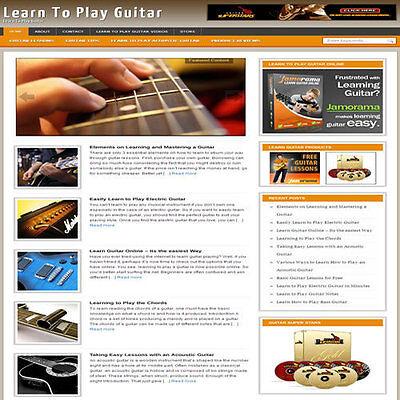Established Learn Guitar Affiliate Website Turnkey Business Free Hosting