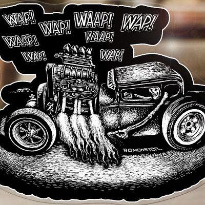 Oldtimer Retro Classic Car Decal Ed Roth Style Scrapyard Genuine Parts Sticker