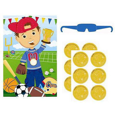SPORTS Little Champs PARTY GAME POSTER ~ Birthday Supplies Decoration Activity