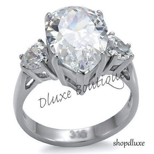 Cz Pear Shaped Engagement Rings Ebay