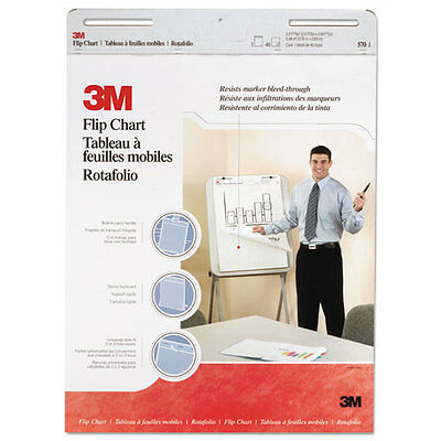 3m Professional Flip Chart Pad Unruled 25 X 30 White 40 Sheets 2carton