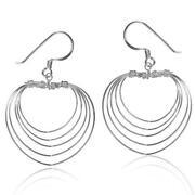 Sterling Silver Heart Dangle Earrings