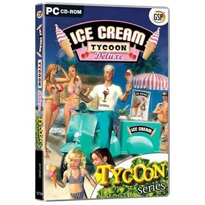 ICE CREAM TYCOON DELUXE -PC CD Game-Brand New Fast Ship! (PC-0250 / - Icecream Games