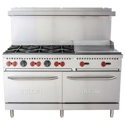 Vulcan Sx60-6b24g 60 6 Burner Lp Gas Range With 24 Griddle