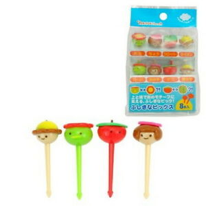 Plastic-Face-Shape-Food-Fruit-Bento-Box-Picks-8pcs-8124