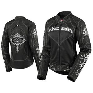 Ladies ICON Motorcycle Jacket - NEW