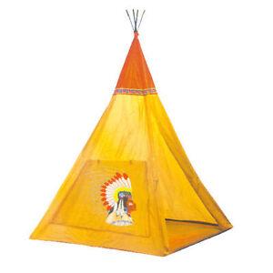 WIGWAM KIDS CHILDRENS INDOOR OUTDOOR INDIAN TEEPEE PLAY HOUSE TENT DEN TY585