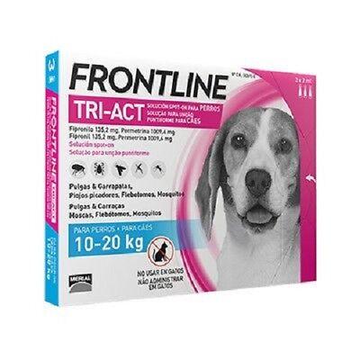Frontline Tri-Act para perros de 10-20 kg (3 Pipetas)