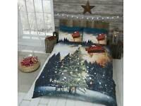 Northern lights christmas duvet