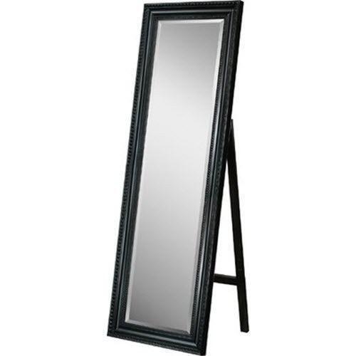 Free standing floor makeup mirror