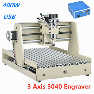 Usb Cnc Router Engraver 3-axis 3040 Milling Machine Engraving Carving Cutter