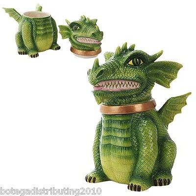 Ceramic Green Dragon Cookie Jar Protector of Cookies Galletas Home Decor Kitchen