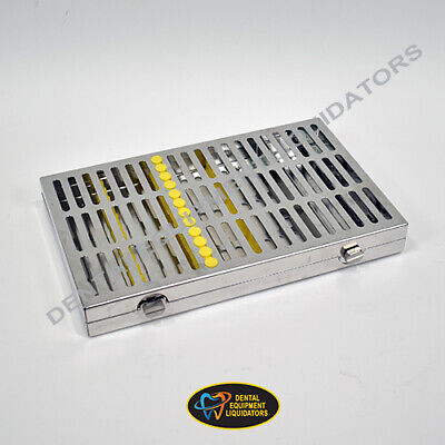 Ims Instrument Sterilizer Cassette Hu-friedy 12 Hold With Accessory Area Yellow