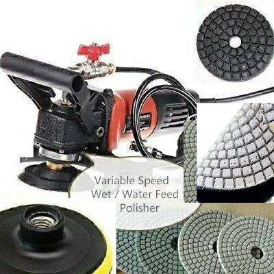 Wet Grinder Polisher Concrete Sander Granite 4 Polishing Pad 20 Concrete Stone