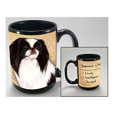 Japanese Chin Faithful Friends Dog Breed 15oz Coffee Mug Cup