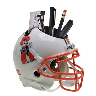 Oklahoma State Cowboys (White w/ Pistol) Football Schutt Mini Helmet Desk Caddy