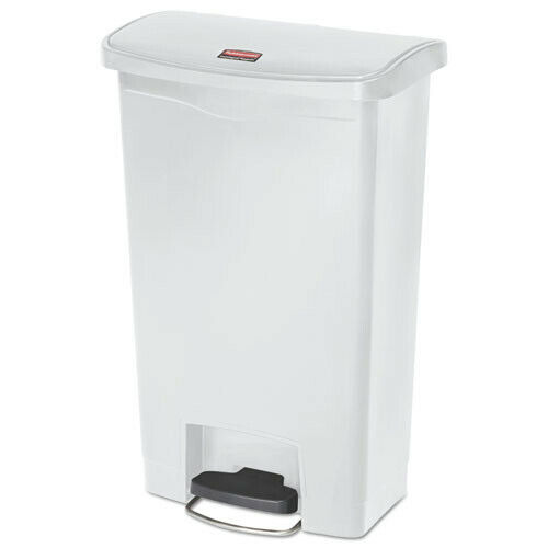 Rubbermaid Commercial 1883557 Slim Jim 13 Gal. Step-On Container - White New
