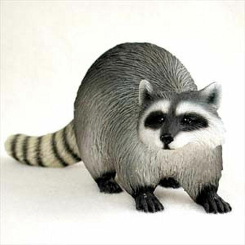 "NEW Raccoon over 5"" Long Figurine Sculpture Statue Life Like Realistic CC-AF28"
