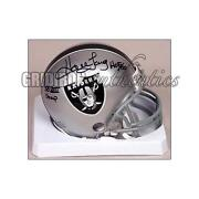 Raiders Signed Mini Helmet