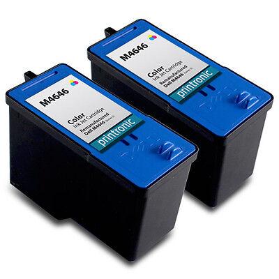 2 Pack Dell Series 5 Ink Cartridge Color M4646 - 946 962 964 Inkjet Printer Dell 964 Printer Ink