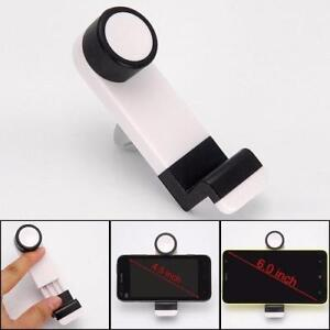 "Weekly Promo! PORTABLE ADJUSTABLE CAR AIR VENT MOUNT HOLDER 4.5"" – 6.3"" FOR MOBILE CELL PHONE  (WHITE), CARVH"