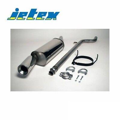 Jetex Stainless Catback Resonated Exhaust Citroen Saxo VTR VTS Phase 1 96-00