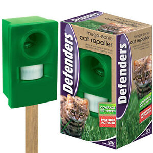 SONIC CAT DOG & FOX DETERRENT REPELLER SCARER REPELLENT