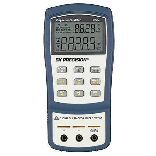 BK Precision 890C Dual-Display Handheld Capacitance Meter, 50 mF